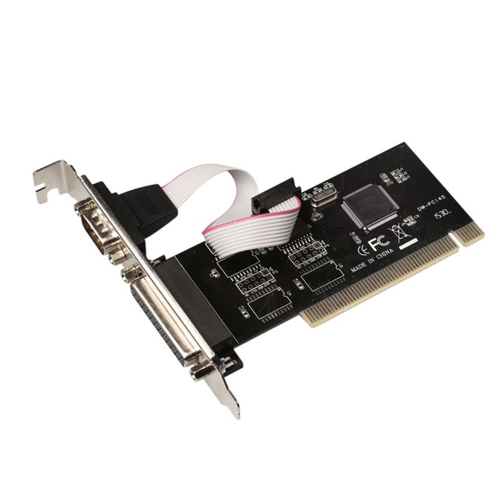 RS232 RS-232 Serial Port COM & DB25 Printer Parallel Port LPT to PCI  Card Adapter Converter TX382A  Chip