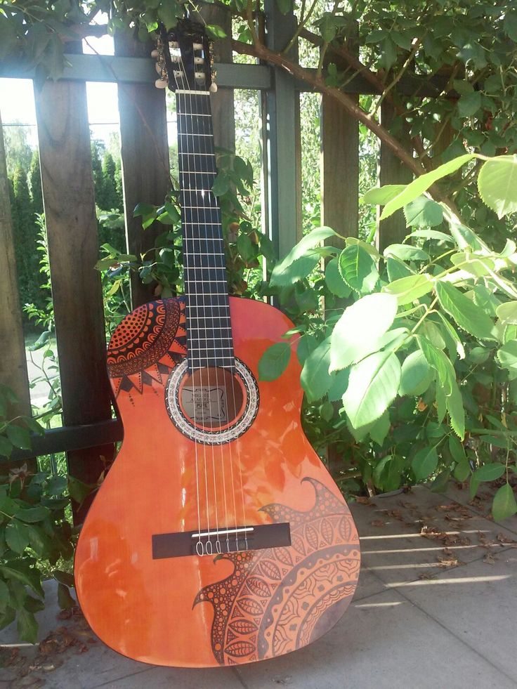 My guitar:) (and yes, the drawing is ON it;))