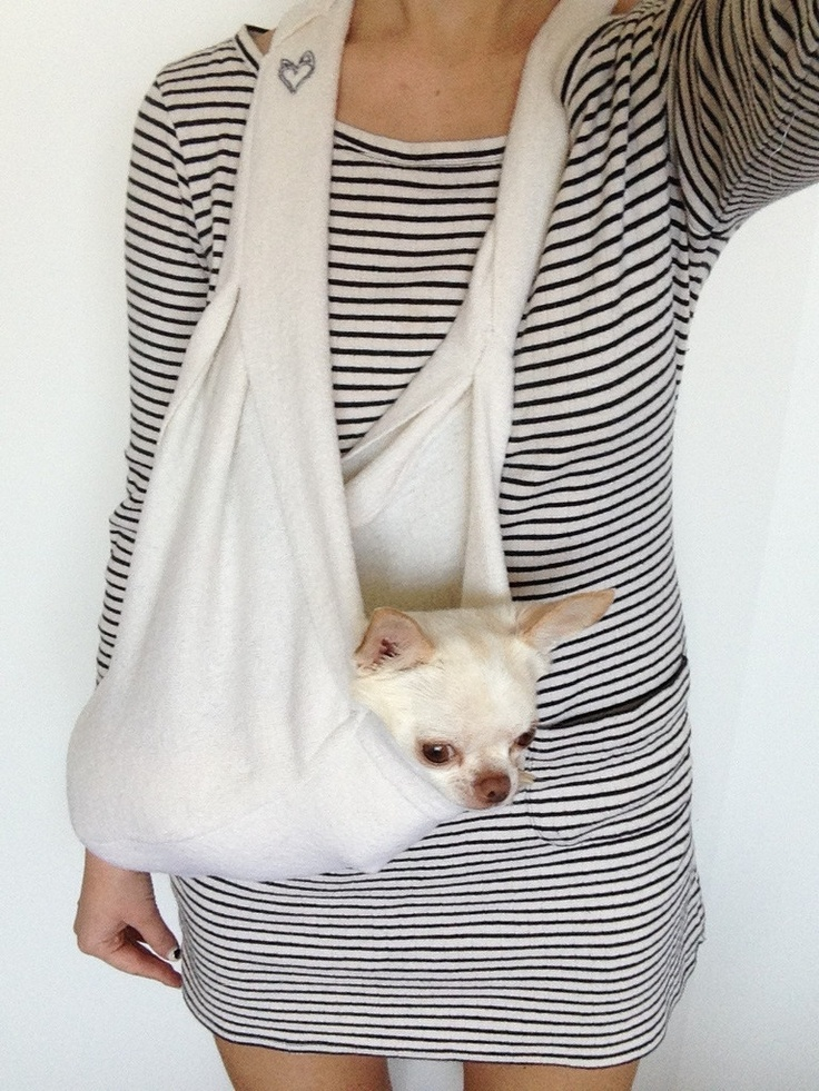Pocket scarf sling white pet carriers - Pattern for dog carrier sling ...