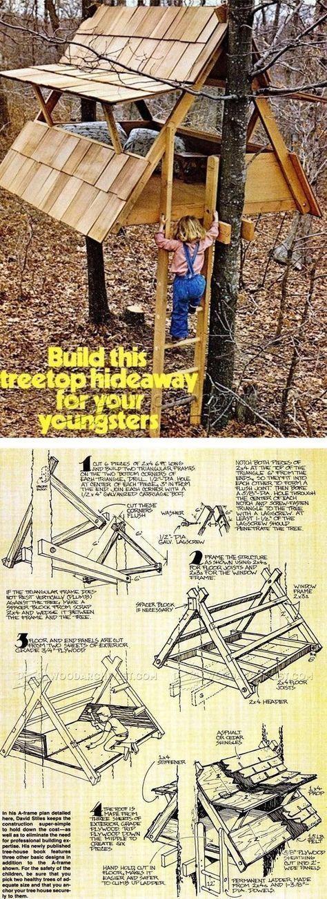 Weitere Ideen unten: Erstaunliche kleine Baumhaus-…