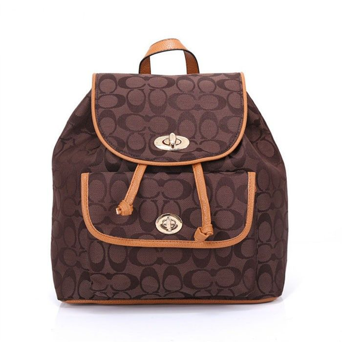 Coach Logo Monogram HW302 Backpack In Coffee