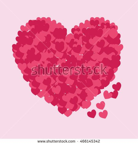 Pink abstract heart icon vector. Vector Illustration. Heart icon. Love symbol