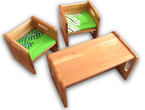 Stühle - Kindersitzgruppe, Kindersitzgarnitur (2+1) - ein Designerstück von Flare89 bei DaWanda