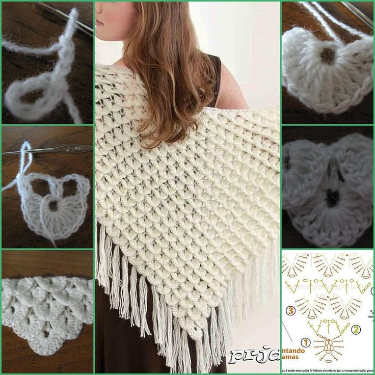 Learn to crochet shawl Triangular Crocodile: Video Tutorial - C K Crafts