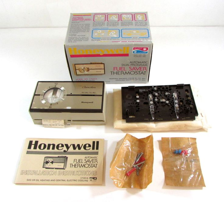 New Vintage Honeywell Thermostat Chronotherm CT201A Dual