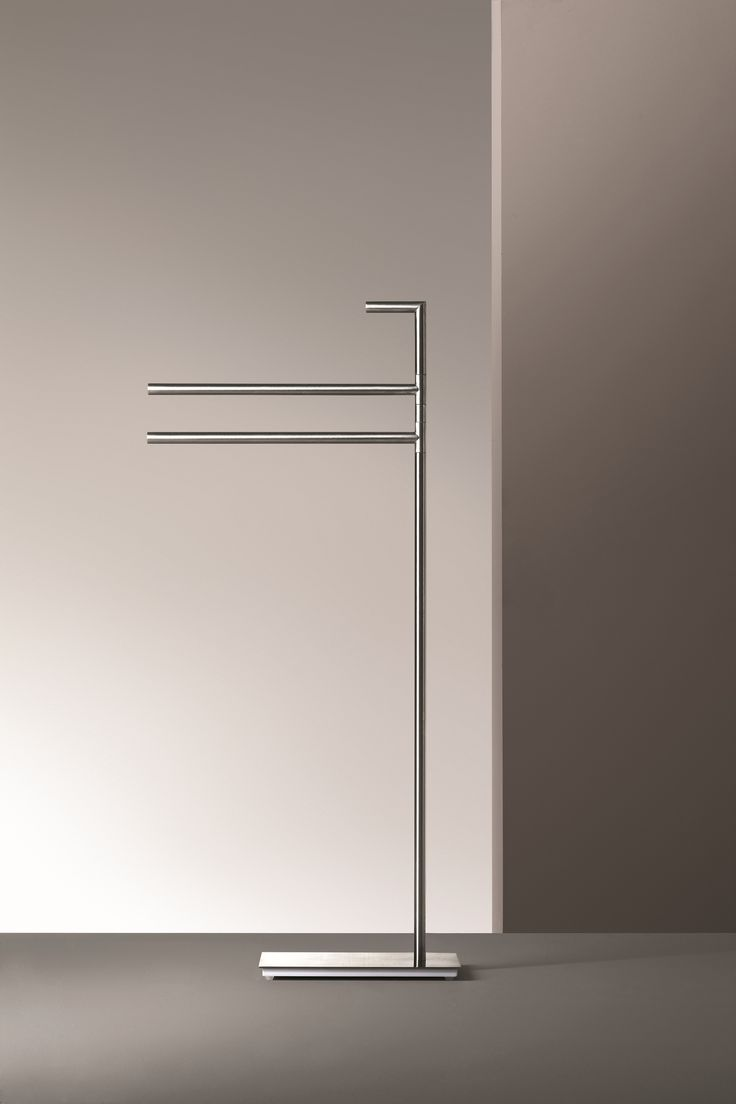 The freestanding towel set with two bars is a simple yet stylish addition to any bathroom. Part of the Young collection in stainless steel by Fantini, this bath accessory is ideal for keeping organized.