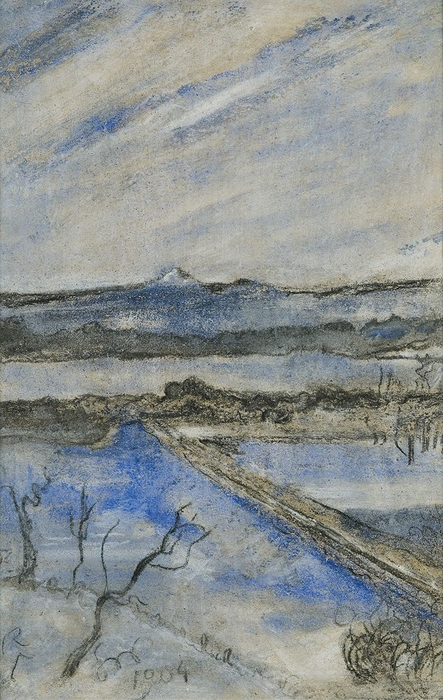 Stanisław Wyspiański (Polish, 1869-1907)  View to the Kosciuszko Hill, Cracow, 1904  Pastel on paper, 41.7 x 27.4 cm