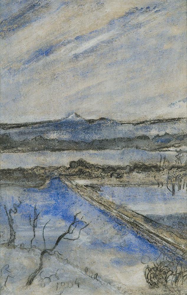 Stanisław Wyspiański (Polish, 1869-1907)  View to the Kosciuszko Hill, Cracow, 1904  Pastel on paper, 41.7 x 27.4 cm