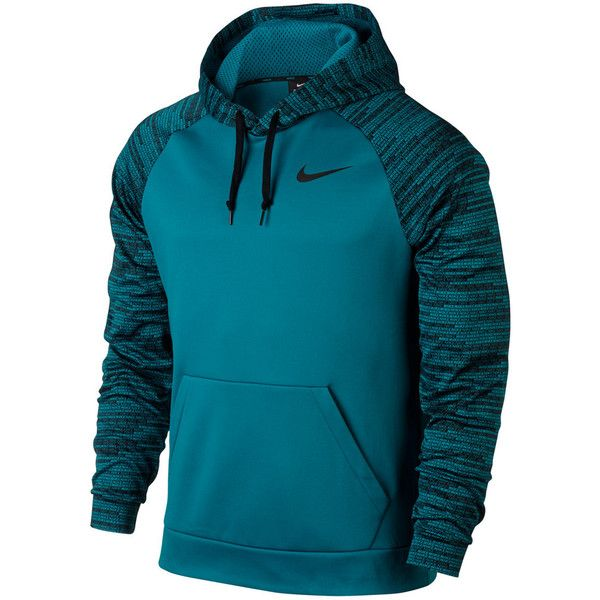 Big & Tall Nike Therma Training Hoodie ($50) ❤ liked on Polyvore featuring men's fashion, men's clothing, men's hoodies, blue other, mens sweatshirts and hoodies, mens hoodies, mens hooded sweatshirts, mens aztec print hoodie and mens big and tall hoodies