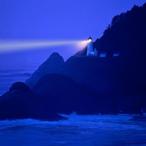 Blue: Heceta Head, Cobalt Blue, Sea Lion, Lighthouses Beams, Oregon Coast, Head Lighthouses, Places, Lights Houses, Stormy Sea