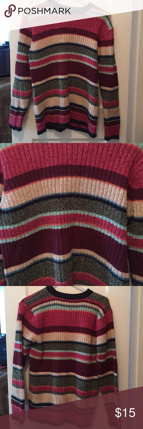 "Liz Claiborne Lizsport Petite Sweater Striped sweater. Petite large. Chest 18"" Length 24"" Liz Claiborne Sweaters"