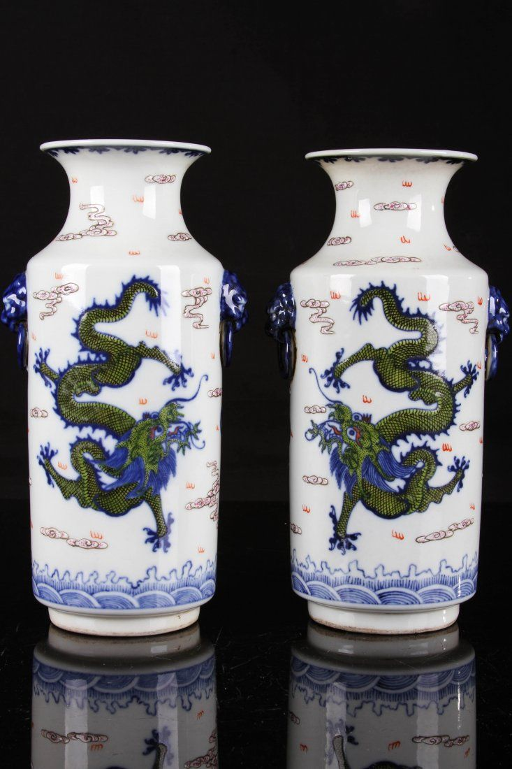 565 best chinese ceramics 2 images on pinterest art auction chinese pair of mid 18th century daqingqianlongnianzhi marked plain tricolour glazed porcelain bangchui vase reviewsmspy