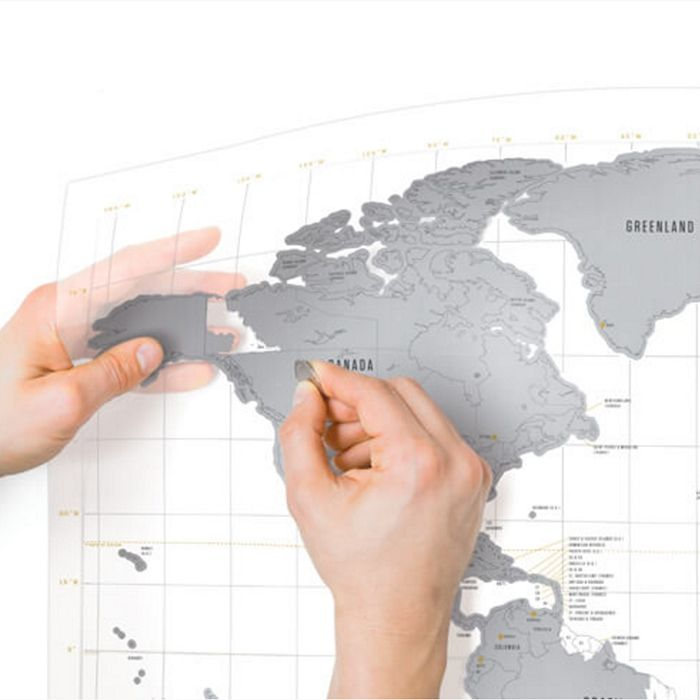 21 best scratch maps world maps images on pinterest cards maps this clear edition scratch map world map poster is printed on transparent acetate and works in the opposite way to all our other scratch map maps gumiabroncs Image collections