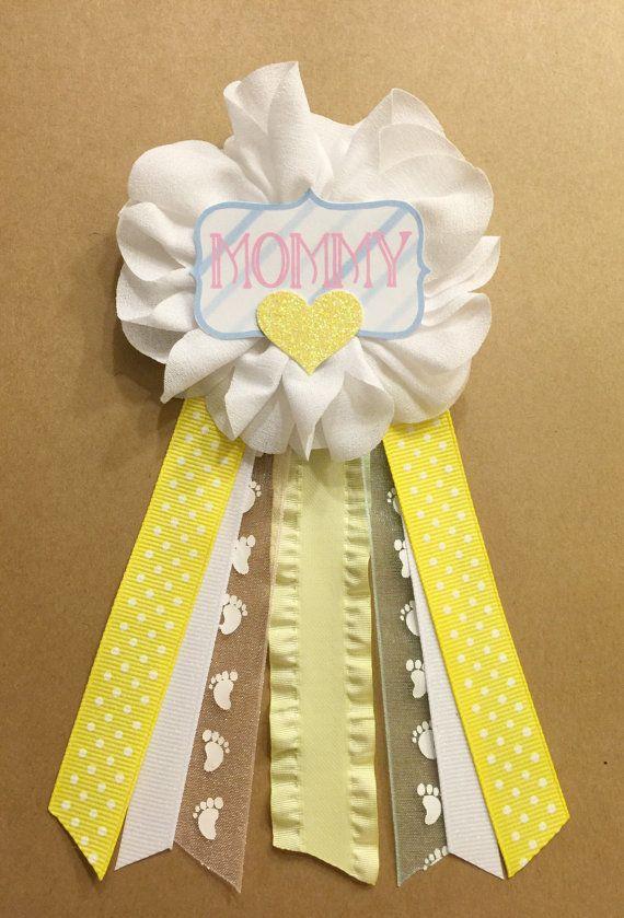Amarillo rosa azul bebé ducha Pin mamá ser mamá de mamá pin