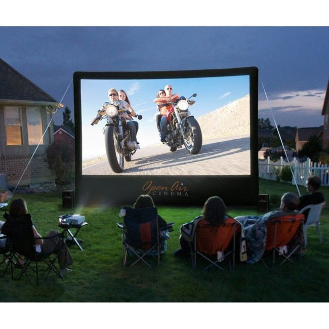 Open Air Outdoor Home 12x7-foot Projector Screen