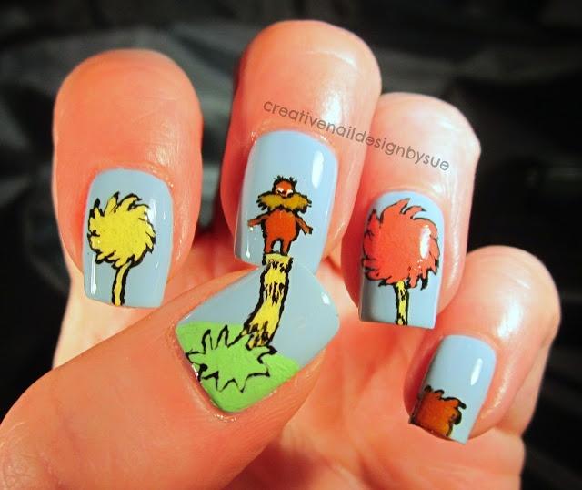 Creative Nail Design by Sue: Digit-al Dozen Does Books-The Lorax