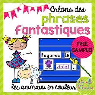Tableau à pochettes | centres d'apprentissage | ressource GRATUITE pour la maternelle | phrases prévisibles