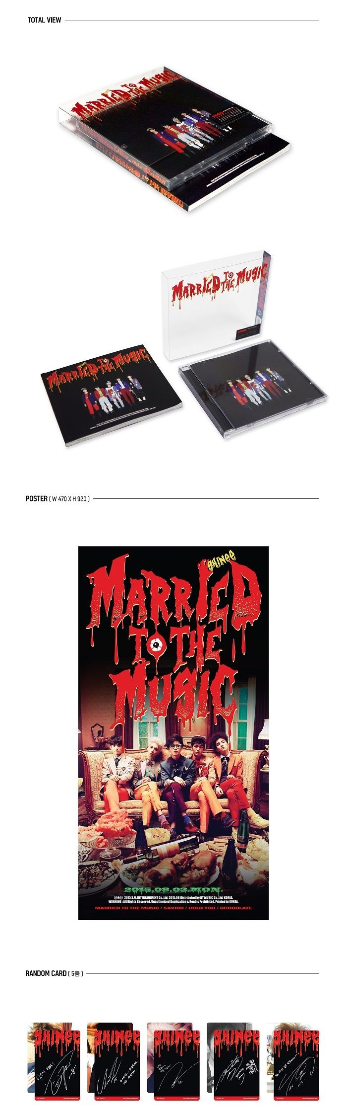 SHINEE 4th REPACKAGE Album - MARRIED TO THE MUSIC CD + Poster