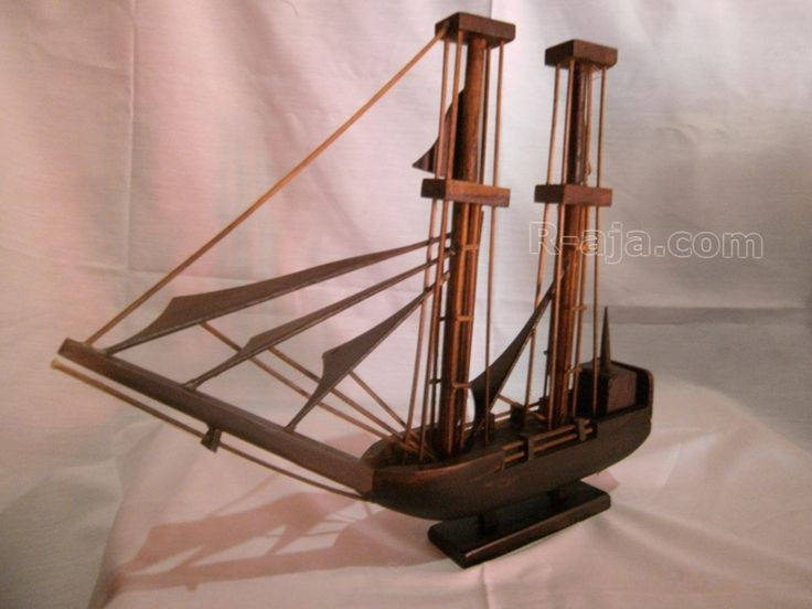 Handicraft Miniature Wooden Craft Ship made of Wood.