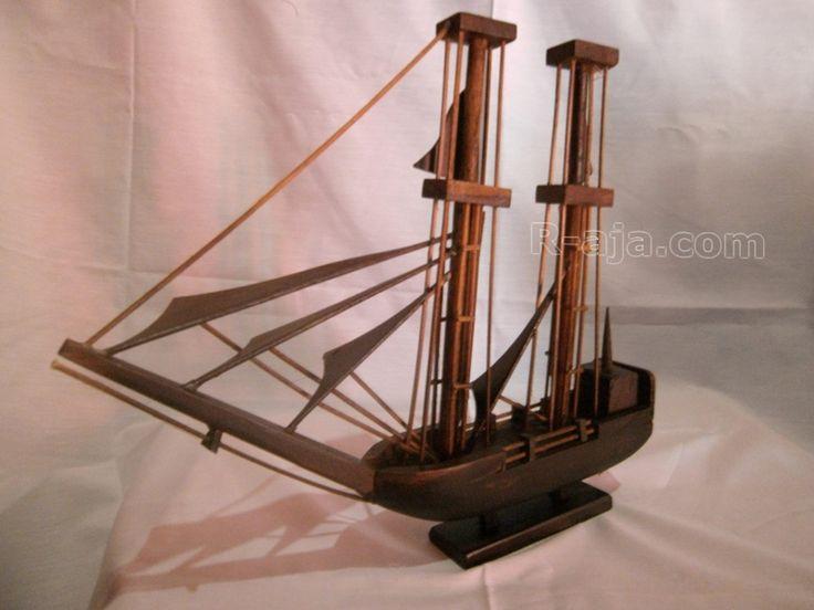 Handicraft Miniature Wooden Craft Ship made of Wood.