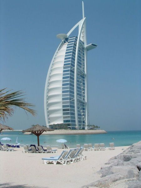 Burj Al Arab Famous Sailboat Hotel In Dubai, Arab Emirates