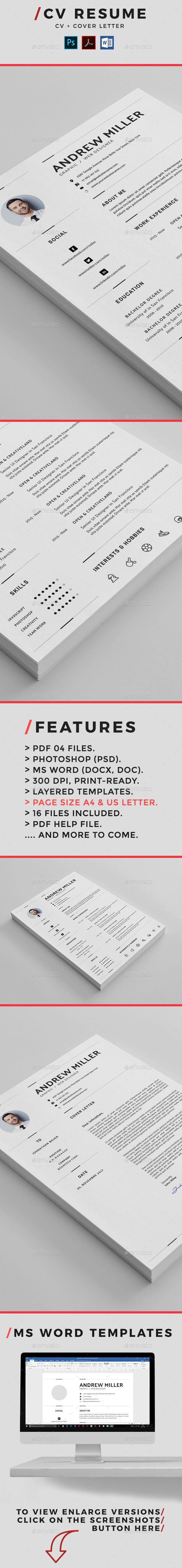 290 Best Resume Design Images On Pinterest Resume Cv Resume