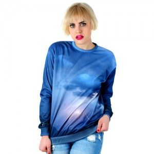 Bluza Oversize Hipster z nadrukiem BURZA unisex