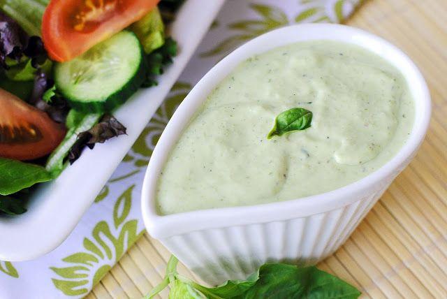 Basil Green Goddess Salad Dressing | For the Love of Food | Pinterest