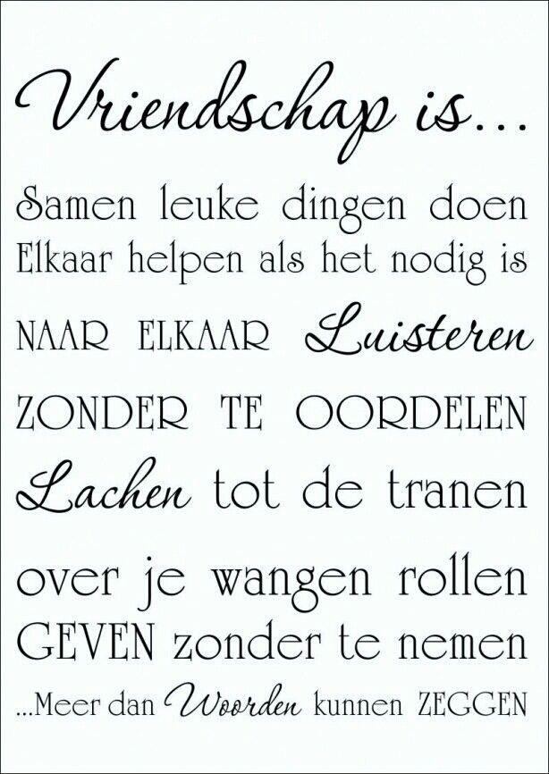 Vriendschap is..