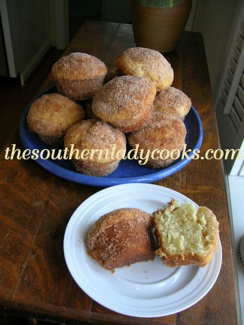 These muffins taste a lot like a cinnamon donut and are great with coffee. We love them for breakfast and my 6-year-old grandson, Tater Tot, loves them anytime! 1 1/2 sticks butter or margarine or ...