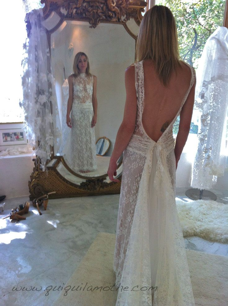 robe de mari e dos nu hippie chic robes de mari es dos nu backless wedding dress pinterest. Black Bedroom Furniture Sets. Home Design Ideas