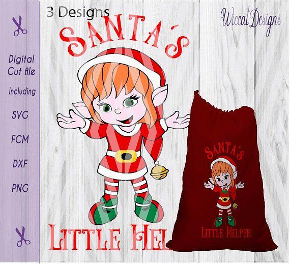 Santa's little helper svg Elves svg Santa sack svg Santa's little helper svg, Elves svg, Santa sack svg, Christmas elf svg, Christmas svg,kids svg, dxf cut file, scanncut, svg for cricut