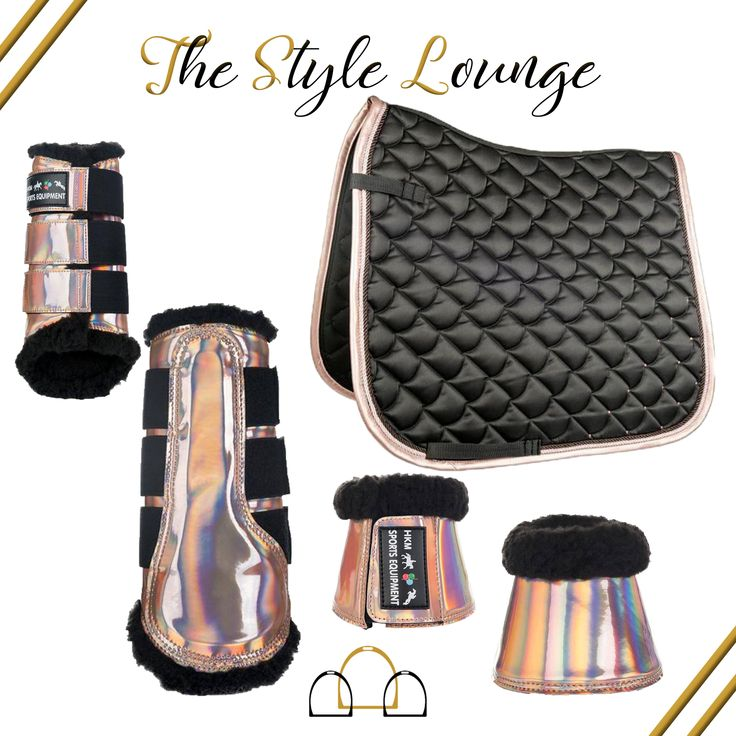 Read our latest #stylelounge to find out why we love this gorgeous matchy set from #HKMSportsEquipment and why Rose Gold should not just be limited to jewellery! #loftyequestrian #numnah #matchyset #dressage