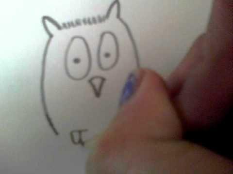 leren een uil tekenen.AVI