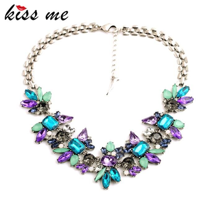 Luxury Created Crystal Flower Pendants Statement Necklace Fashion Jewelry Women Accessories Like and Share if you want thisVisit our store --->  http://www.servjewelry.com/product/luxury-created-crystal-flower-pendants-statement-necklace-kiss-me-fashion-jewelry-women-accessories/ #shop #beauty #Woman's fashion #Products #homemade