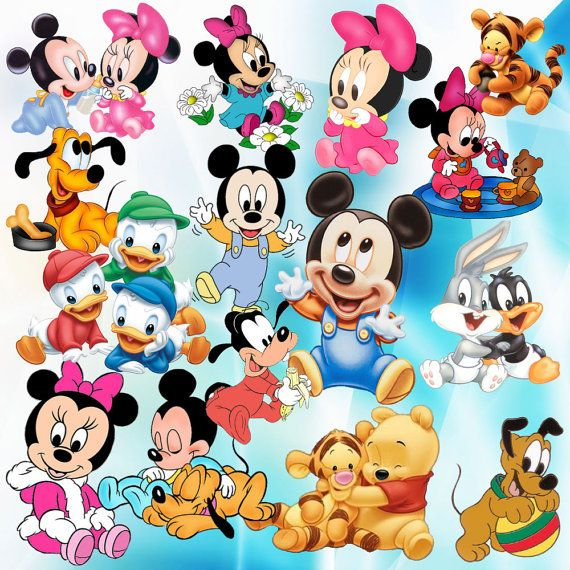 Disney Baby Clipart Png Cartoon Clipart Digital Clipart Stickers Digital Print Png File Transparent Backgrounds Pr Cartoon Clip Art Baby Disney Clip Art