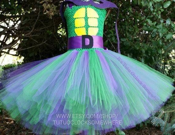 TMNT Inspired Ninja Turtle Halloween Costume Tutu Dress Custom Made