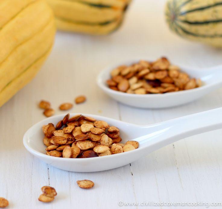 Roasted Delicata Squash Seeds #grainfree #glutenfree