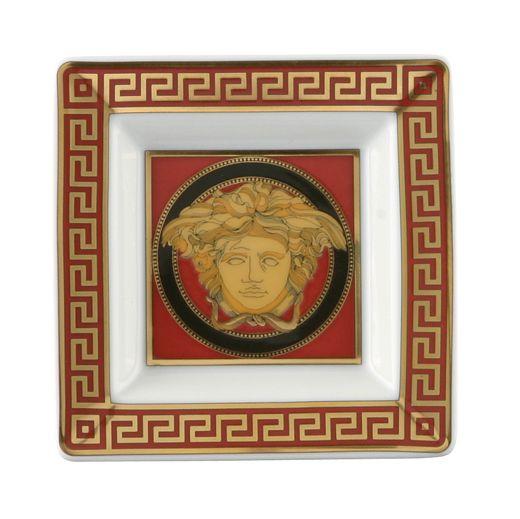 #MEDUSA TRAY de #Versace. Una pequeña bandeja en porcelana y oro diseñada por Gianni #Versace. Encuéntrala en #Fidelius http://www.fidelius.com.uy