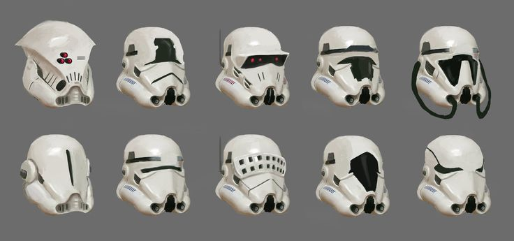 Stormtrooper's Helmet Designs, Hung Bui on ArtStation at http://www.artstation.com/artwork/stormtrooper-s-helmet-designs