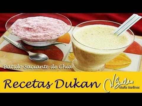 Bebida saciante Dukan de Chia y Yogur (Crucero) / Yogurt & Chia Smoothie - YouTube