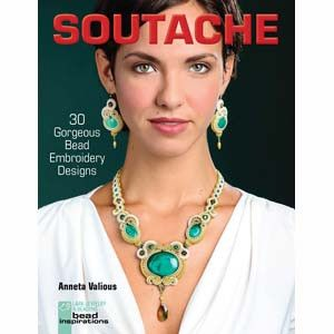 Soutache & Bead Embroidery introduces a fascinating new technique to bead enthusiasts, fiber artists, and jewelry makers. This thin colorful cord can be wound, bound, and stitched into place with beau