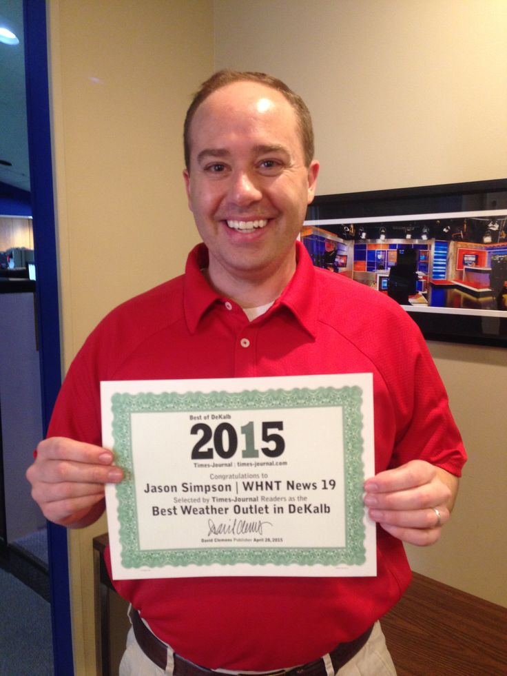 """Readers select WHNT News 19 & Jason Simpson as """"Best Weather Outlet"""" in DeKalb County."""