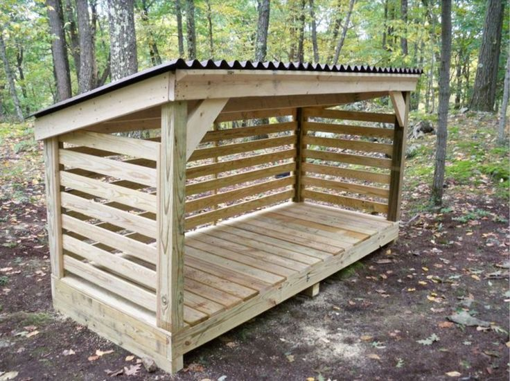 A basic, no-frills woodshed - http://media-cache-cd0.pinimg.com/originals/b3/03/ae/b303aea0b0c23a680bf0c5b57ce31ab9.jpg