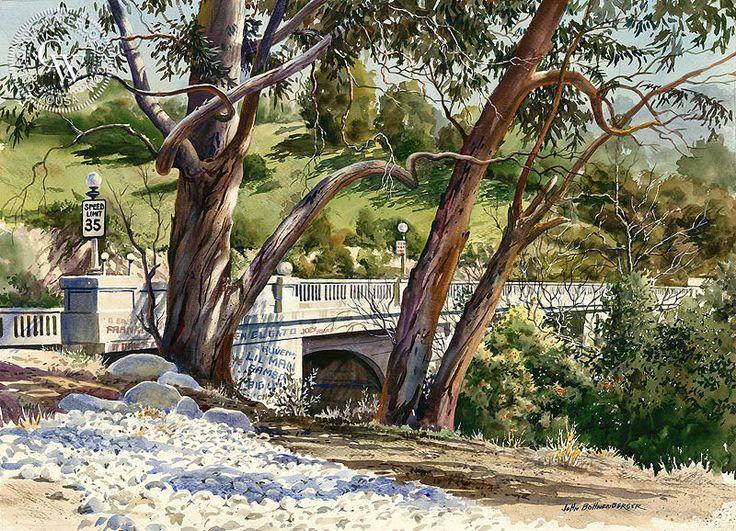 John Bohnenberger (American, 1926-2012) > Griffito Bridge | 21.5 x 29.5 inches