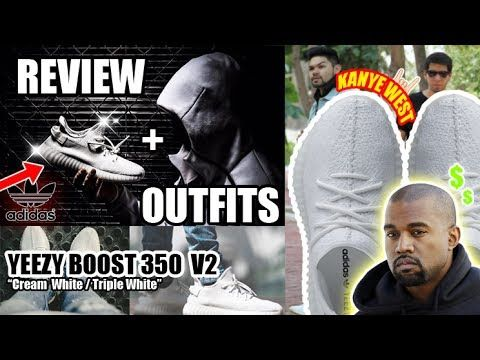OUTFITS  REVIEW ADIDAS YEEZY BOOST 350 v2 CREAM WHITE - KANYE WEST
