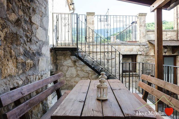 Patio casa in Pietra a Pretoro  Patio stone house Pretoro