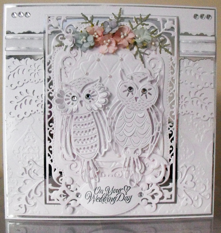 'Owl' - Topper Die. Available exclusively from hobbycraft. Card submitted by Lesley Hawkins.
