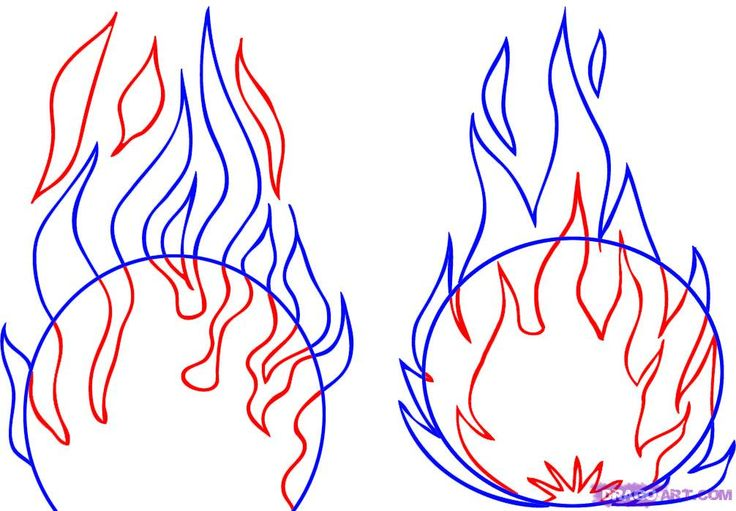 how to draw flames