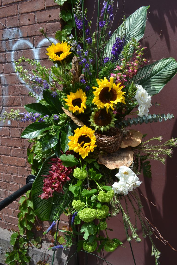 19 best funeral floral arrangements by terris flower shop images natural standing spray for funeral of an outdoor lover by terris flower shop in naugatuck dhlflorist Image collections